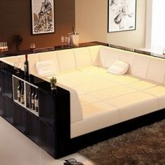 Fabriquer un canapé XXL Pit Couch, Sofa Bed, Cuddle Couch, Lounge Couch, Pit Sectional, Comfy Couches, Comfortable Couch, Plush Couch, Sleeper Couch