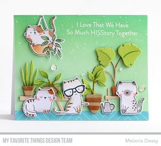 Card Kit, I Card, Cat Plants, Mft Stamps, Cat Cards, Animal Cards, Pattern Paper, Pattern Wallpaper, Cards