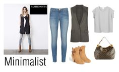 """""""Minimalist Look"""" by wantering ❤ liked on Polyvore featuring AllSaints, Louis Vuitton, Monki, rag & bone and Hudson"""