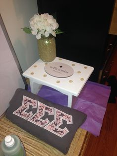 Sorority stool and flower night big/little