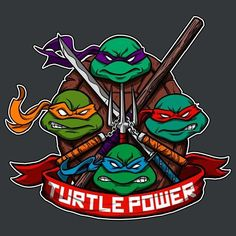 by Juan Foo - Get Free Worldwide Shipping! This neat design is available on comfy T-shirt (including oversized shirts up to ladies fit and kids shirts), sweatshirts, hoodies, phone cases, and more. Free worldwide shipping available. Ninja Turtles Art, Teenage Mutant Ninja Turtles, Half Shell Heroes, Turtles Forever, Cartoon Turtle, Ninja Party, Nerd Art, Cultura Pop, Tmnt