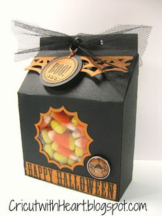 Cricut with Heart: Halloween Slanted Treat Box