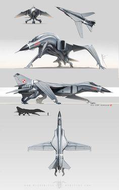 MiG 23 by Hydrothrax on DeviantArt Monster Concept Art, Alien Concept Art, Creature Concept Art, Monster Art, Creature Design, Animal Robot, Beast Creature, Arte Robot, Monster Design