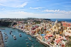 Procida Isle, in Naples Gulf, Italy - we liked it better than Capri! Oh The Places You'll Go, Places To Travel, Travel Destinations, Places To Visit, Dream Vacations, Vacation Spots, Positano, Beautiful World, Beautiful Places