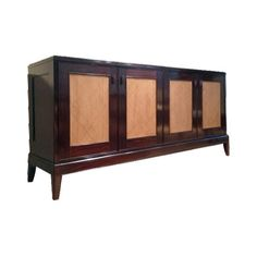 BEAUMONT BUFFET WITH CANE DOOR   CA- 751 SIZE: 80″ W X 20 1/2″ D X 38 3/4″ H WOOD: MAHOGANY