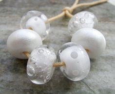 Winter Wonderland Collection Lampwork Glass Beads UK by shineon2, £12.00