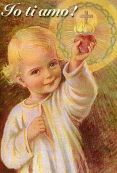 The most adorable left handed picture of the Child Jesus!