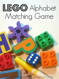 LEGO Alphabet Matching Game {with other literacy matching ideas shared at the end} Teaching Phonics, Preschool Literacy, Preschool At Home, Preschool Ideas, Teaching Resources, Kindergarten, Learning Tools, Early Learning, Kids Learning