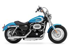 2000 Harley Sportster 1200 › 2011 Harley Davidson Xl1200c Custom Hd1 Sportster Right Angle View (Blue)