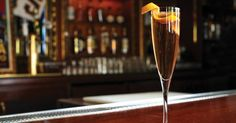 Spike Champagne with apple brandy and orange liqueur.