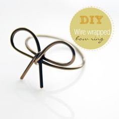 DIY: Wire wrapped bow ring