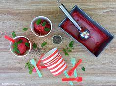 Σορμπέ φράουλας χωρίς ζάχαρη με σπόρους τσία και δυόσμο Baking, Bakken, Backen, Sweets, Pastries, Roast