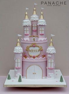 Princess Theme Cake, Princess Birthday Party Decorations, Disney Princess Birthday Party, Castle Birthday Cakes, Happy Birthday Cakes, Birth Cakes, Dummy Cake, Carousel Party, Baby Girl Cakes