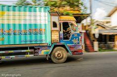 delivery van, sri lankan style, Hikkaduwa, Southern Province, Sri Lanka