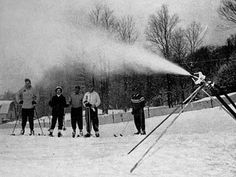 Snow Making at Grossinger's - in 1952, Grossinger's became the first resort in the world to feature the use of artificial snow