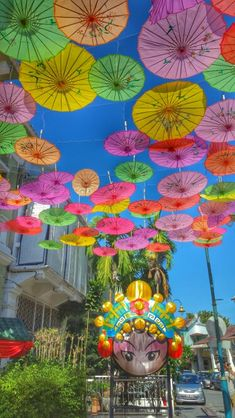 Umbrella Art, Georgetown, Penang #malaysia #streetart