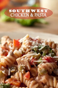 Southwest Chicken Pasta on Pinterest | Southwest Pasta Salads, Gastric ...