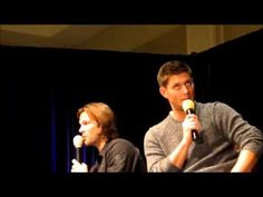 Thomas Padalecki interrupting Uncle Jensen!  I have died of cuteness.