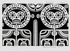 Marquesan patutiki - Tattoos by Igor Kampman Blackinktatau - polynesian tattoos www.blackinktatau.com