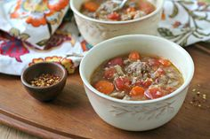 Have you noticed I have been making a lot of soups with sausage or ground meat lately? I have and I have to say, I don't see this trend stopping anytime soon. It is just so convenient and makes throwing together a pot of soup so much quicker. This Italian Sausage and Cabbage Soup was born out of convenience (and cold weather!). This past weekend, we had pretty much no groceries left in the house except for a head of cabbage, some carrots and a couple packages of Italian Sausage in the…