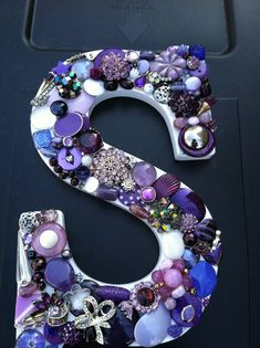 Custom Handmade  mosaic wall letter purple by MosaicTreasureBox, $60.00