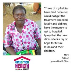 Mary lost three children as she couldn't afford healthcare. But there's hope in #OperationHealth @scott_mills @BBCR1  #RND15