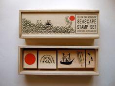 Yellow Owl Workshop Stamp Set - Seascape