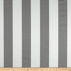 Premier Prints Vertical Stripe Twill Storm from @fabricdotcom  Screen printed on cotton twill; this versatile medium weight fabric is perfect for window treatments (draperies, valances, curtains and swags), toss pillows, duvet covers, some upholstery and other home decor accents. Create handbags, apparel (skirts, lightweight jackets, pants) and aprons.*Use cold water and mild detergent (Woolite). Drying is NOT recommended - Air Dry Only - Do not Dry Clean. Colors include grey and white.