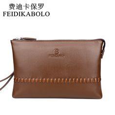 FEIDIKABOLO 2017 Hot Male Leather Purse Men's Clutch Wallets Handy Bags Casual Long Business  Wallets Men Black Brown Coin Purse