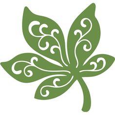 Silhouette Design Store - View Design #17942: swirl leaf