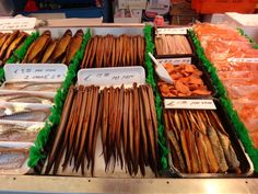 lots of smoked fish in amsterdam