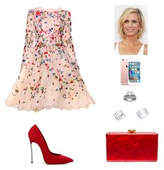 """""""Untitled #812"""" by mtbcastro-goncalves ❤ liked on Polyvore featuring Zuhair Murad, Casadei, Edie Parker and Anne Sisteron"""