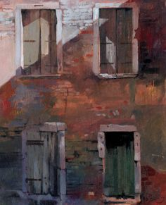 Four Windows, an original oil painting | Paintings by Welsh artist Rob Piercy