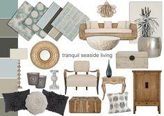 beach house interior design mood board