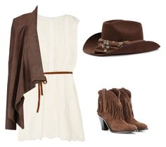 A fashion look from February 2017 featuring summer dresses, drape jacket and western boots. Browse and shop related looks. Western Boots, My Outfit, Cowboy Hats, Polyvore Fashion, Yves Saint Laurent, Fashion Looks, Summer Dresses, Country, Clothing