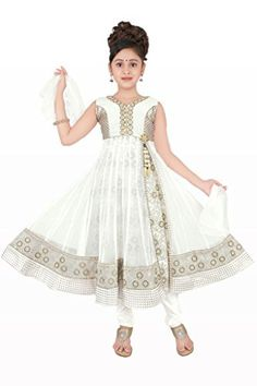 Off-White Colour Girls Party Wear Salwar Suit, Vasundhara Fashions Indian Clothing