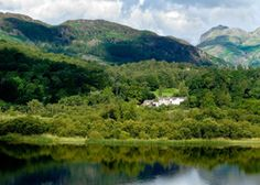 The Eltermere Inn | United kingdom Cumbria England. A country-house inn that sits above the water encircled by the Langdale peaks - beautiful bedrooms, tasty food and open fires wait