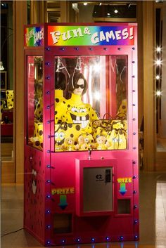 """Moschino Milan Italy, """"Fun & Games,are you feeling lucky, win a prize"""", pinned by Ton van der Veer"""
