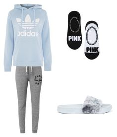 """Movie night with bae"" by outfitsonfleek100 ❤ liked on Polyvore featuring Superdry, Topshop and Puma"