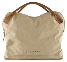Burberry Canvas bag by elba Canvas Leather, Leather Bag, Fabric Bags, Burberry Handbags, Big Bags, Beautiful Bags, Canvas Tote Bags, Canvas Totes, Fashion Bags