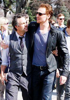 #mark ruffalo and #tom hiddleston