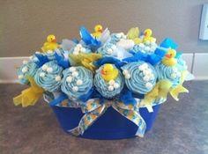 rubber ducky corsage | rubber ducky cupcake bouquet | food | Pinterest