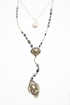 Free People: Womens Double Layer Rosary Necklace