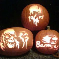 My 2009 pumpkin carvings, thanks to ZombiePumpkins.com