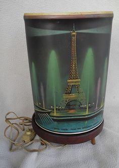 VINTAGE OVAL ECONOLITE EIFFEL TOWER MOTION LAMP 1963