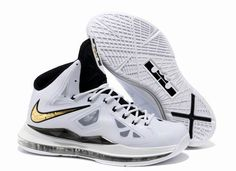 Nike Lebron X (10) White Black Gold