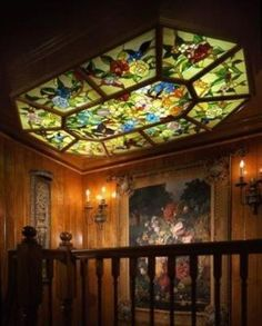 Beautiful stain glass ceiling light!!!