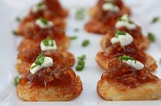 EVERYDAY SISTERS: Mini Potato Pancakes with Carmelized Apples