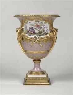 One of a pair of vases bought by Louis XVI 1780 for the King's chamber at Versailles