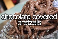 Chocolate covered pretzels.